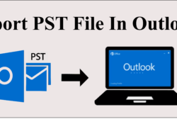 import pst file into Outlook